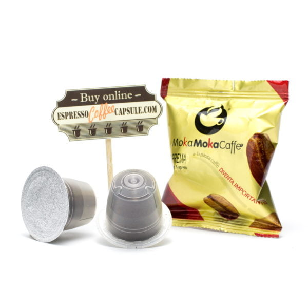 MokaMokaCaffe Suprema coffee capsules for nespresso