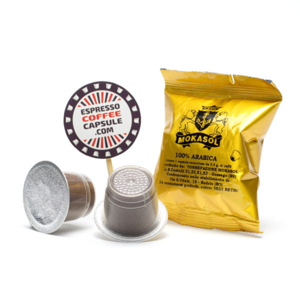 MOKASOL Arabica nespresso capsules pods