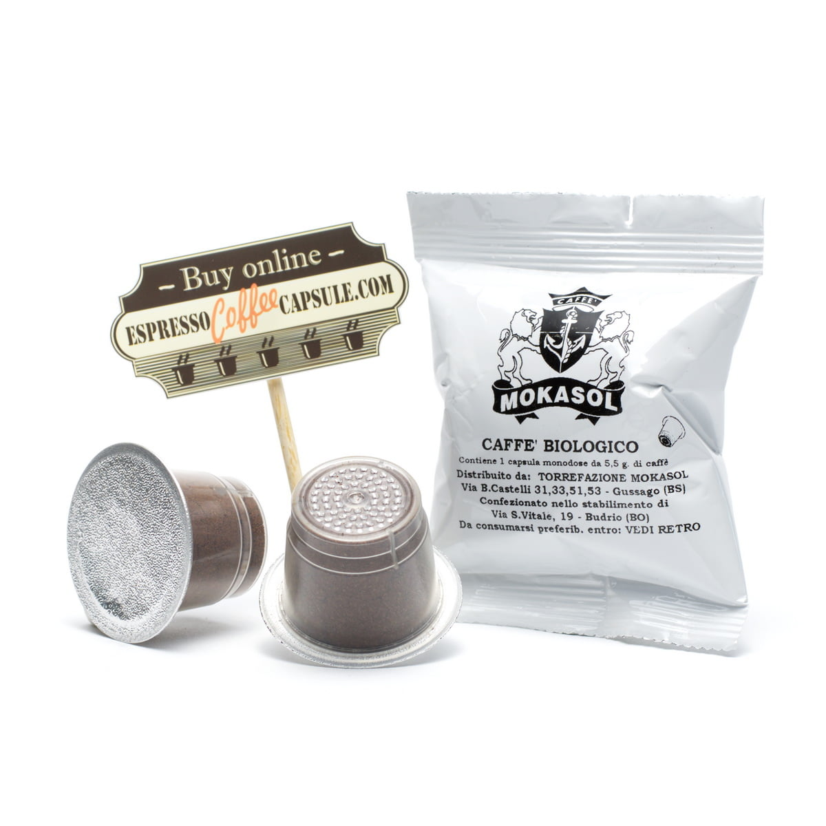 MOKASOL Biologico coffee capsules for nespresso