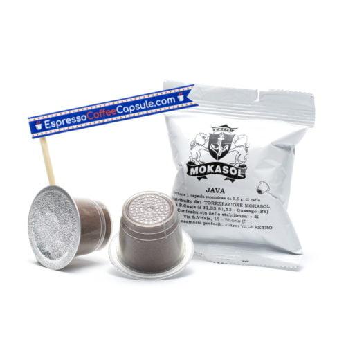MOKASOL Java robusta nespresso capsules