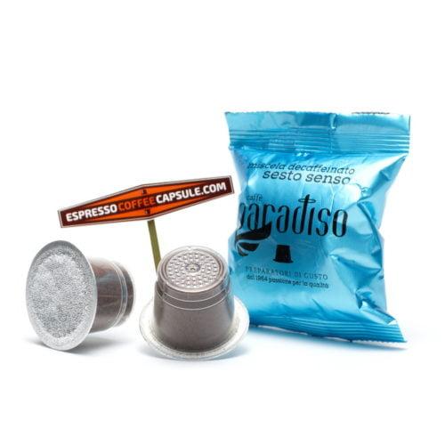 PARADISO Decaffeinato decaffeinated coffe capsules for nespresso home